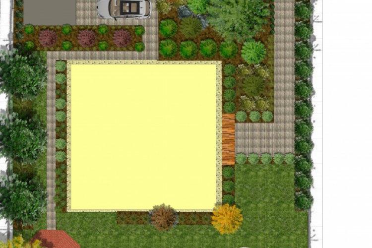 Projekt koncepcyjny ogrodu.