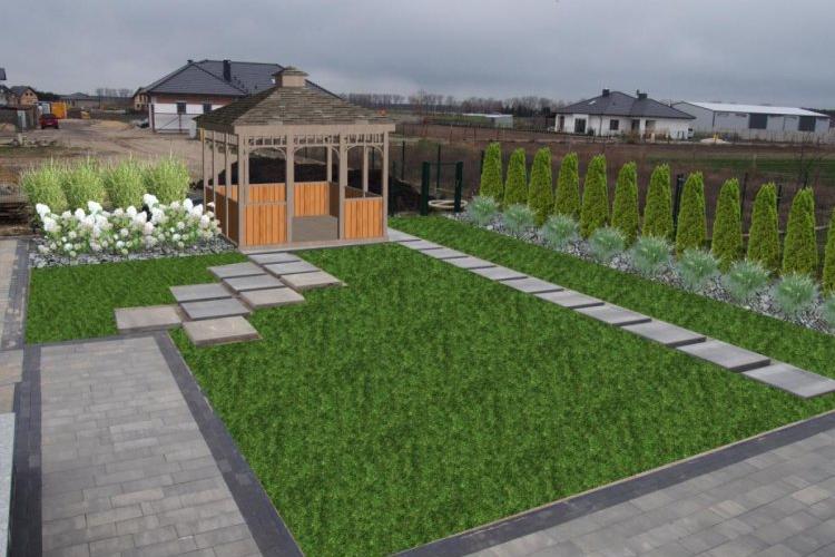 Ogród z altaną wersja 1