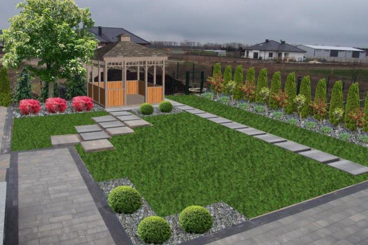Ogród z altaną wersja 2