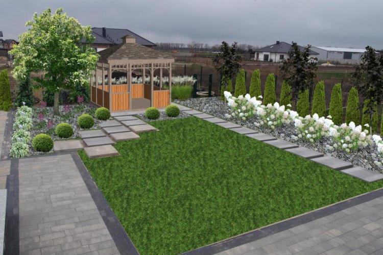 Ogród z altaną wersja 3